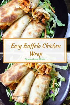 Easy Buffalo Chicken Wrap for lunch and dinner #cleaneatingrecipes #dinnerideas #delicious #yummy #recipe #reipeideas #comfortfood #easydinner #lunch #wraps #chickenrecipes #chickendinner via @simplegreenmoms Clean Eating Recipes, Clean Eating Snacks, Lunch Recipes, Healthy Recipes, Healthy Eating, Lunch Snacks, Delicious Recipes, Tasty, Yummy Food