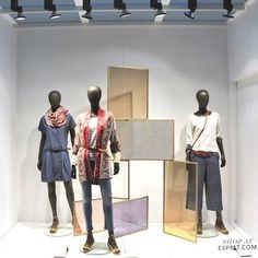 """Esprit, berlin, germany, """"rebecca you can't use up creati Window Display Retail, Window Display Design, Clothing Store Design, Fashion Typography, Autumn Display, Store Interiors, Boutique Interior, Visual Display, Store Windows"""