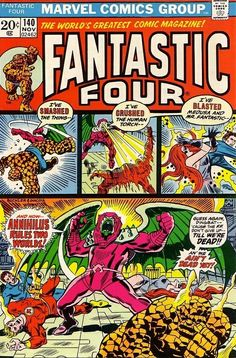 Fantastic Four #140 - And Now--Annihilus Rules Two Worlds!