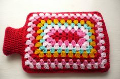 Shades of red and pink Hot Water Bottle Cover/Cozy by Aalexi,