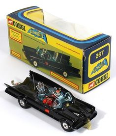 Corgi Toys 267 Batmobile Later Issue Wide Tires '79-'81