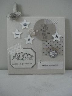 xo Diy Memo Board, Idee Diy, Vintage Scrapbook, Square Card, Home And Deco, Diy Wall Art, Photo Displays, Shabby, Decoration