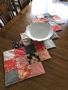 Quilted Table Runner, Handmade, Modern Quilt, Table Topper Quilted Table Toppers, Quilted Table Runners, Lilac Tree, Handmade Items, Handmade Gifts, Buffet, Quilts, Modern, Crafts