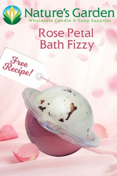 Free Rose Petal Bath Fizzy Recipe by Natures Garden