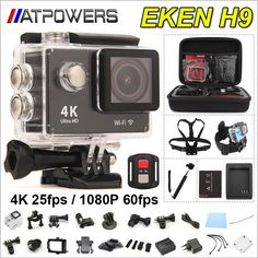 Original EKEN H9 / H9R remote Action camera Ultra HD 4K WiFi 1080P/60fps 2.0 LCD 170D lens Helmet Cam go waterproof pro camera