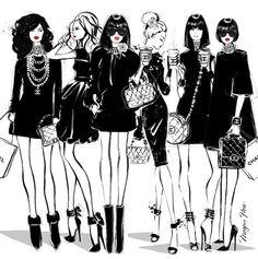 Fashion Girl Illustration Paris Megan Hess New Ideas Megan Hess Illustration, Illustration Mode, Arte Fashion, I Love Fashion, Girl Fashion, Fashion Design, Glamour Moda, Kerrie Hess, Fashion Sketches