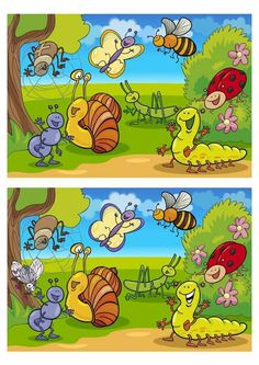 Find out the Differences - Dyslexia Activities, Kindergarten Activities, Learning Activities, Kids Learning, Activities For Kids, Spot The Difference Kids, Find The Difference Pictures, 1st Grade Homework, Farm Animals Preschool