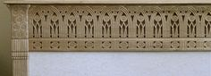 Pierced cavetto molding hand carved in wood and developed from a design by Armand Rateau
