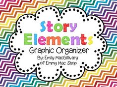 This is a foldable brochure type graphic organizer that students can use to record the story elements: Characters, Setting (where?/when?), Problem, and Solution.   Look for a more in-depth Story Element unit coming soon.   This Graphic Organizer works well with the following products:  Writing Personal Recounts  Writing a Retell  Narrative Writing: Fractured Tales  Thanks for stopping by!  Emily :)