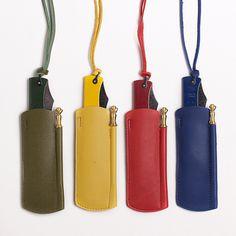 """Douk-DoukChromatiqueFour new colors / enamel coated / leather slip case / honing rod /Slipjoint knife with """"Turkish Clip..."""