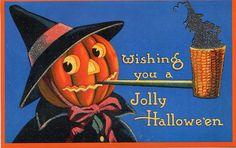 Image result for vintage happy halloween