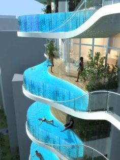 These pools are... weird...  Bandra Ohm by James Law Cybertecture Internationa