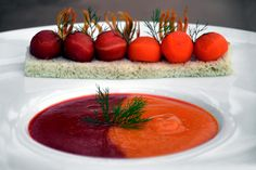 Red and Orange Carrot soup - Taste by Four Seasons | Taste by Four Seasons