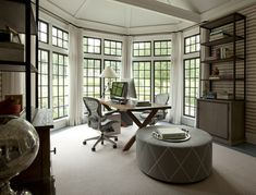 I would love this as my office. Thom Filicia design.