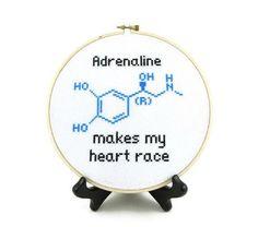 Adrenaline Molecule Cross Stitch pattern on Craftsy.com