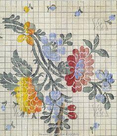 Design for a shawl or handkerchief, by Wilson & Co. Spitalfields, London, England, 19th century