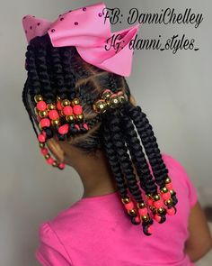 💓 - Little black girl hairstyles Toddler Braided Hairstyles, Cute Little Girl Hairstyles, Girls Natural Hairstyles, Baby Girl Hairstyles, Natural Hairstyles For Kids, Natural Hair Styles, Black Hairstyles, Ponytail Hairstyles, Braids For Kids