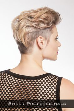 Short Hairstyle with Long Top Back