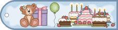 Sweet Birthday Bear Bookmark