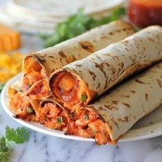 Damn Delicious//Hawaiian BBQ Chicken Taquitos