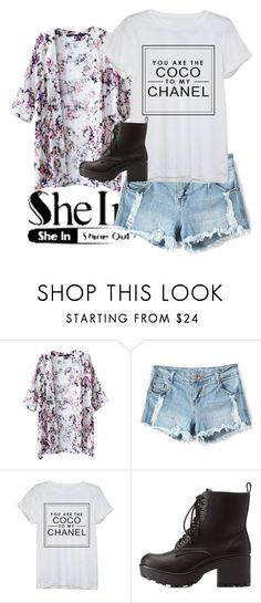 """""""Untitled #552"""" by sara-bitch1 ❤ liked on Polyvore featuring Chanel and Charlotte Russe"""