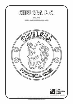 Cool Coloring Pages - Others / Chelsea F.C. logo / Coloring page with Chelsea F.C. logo