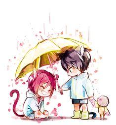 Rin x Haru from Free!! (Sakura rain by booombom)