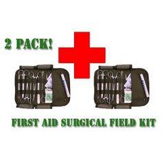 First Aid Field Surgical Kit (2 Pack), (first aid, survival, emergency preparedness, emergency kits, surgical instruments, emt, first aid kits, shtf, malik, ems bag), via https://myamzn.heroku.com/go/B004NWIOMM/First-Aid-Field-Surgical-Kit-2-Pack