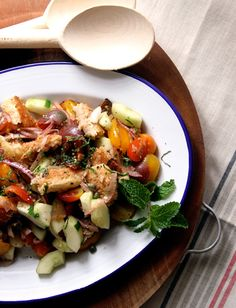 panzanella with anchovy and mint panzanella with mint and anchovy from ...