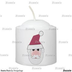 When the sun goes down the lights don't have to go out thanks to Zazzle's Christmas candles. Shop our great designs for yourself or to give as gifts! Santa Face, Christmas Candles, Votive Candles, Candle Holders, Lights, Porta Velas, Christmas Lights, Lighting, Rope Lighting