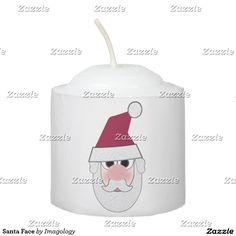 Santa Face Votive Candle