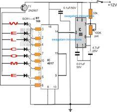 Circuito de indicador de luz de giro seqüencial do gráfico de barras para o carro Hobby Electronics, Electronics Projects, Ldr Circuit, Electronic Circuit Design, Diy Amplifier, Robotic Automation, Led Projects, Electric Circuit, Electronic Schematics