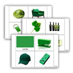 Livro de cor: verde. Cada livro de cor inclui:  1carta com titulo  10 imagens