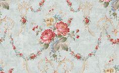 rose garland wallpaper