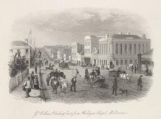 Great Collins Street Looking East from Wesleyan Chapel, Melbourne, 1856
