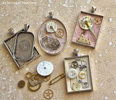 How to make your own salvaged jewelry from anything! - My Salvaged Treasures, featured on ILoveThatJunk.com