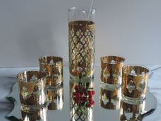 Vintage Mid Century Culver Glassware Hollywood by used2bnewVintage