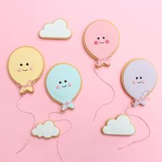 My pastel confetti shoot reminded me of these balloon cookies I made in the past! I love them
