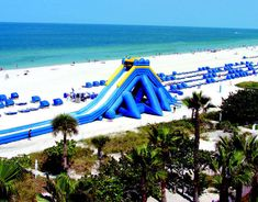 view from the hotel...coolest water slide! st.pete beach, florida