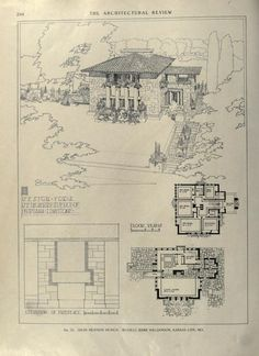 Architectural House Plans, Architectural Sketches, Architectural Photography, Vintage House Plans, Moise, House Ideas, Architecture Old, Classical Architecture, Frank Lloyd Wright