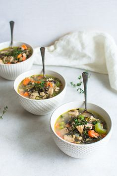 A Turkey and Wild Rice Soup Recipe that's brimming with vegetables, roasted turkey and fresh herbs