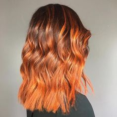 "2,795 Likes, 9 Comments - Vegan + Cruelty-Free Color (@arcticfoxhaircolor) on Instagram: ""@ciarasikes created this beautiful orange balayage on @emmarupp ✨✨ #afsunsetorange"""