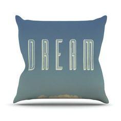 KESS InHouse Dream Print Outdoor Throw Pillow