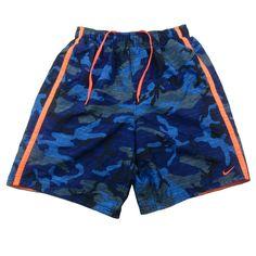 15845860cfa3 Nike Swim Trunks Board Shorts Size Medium Mens Blue Camo Drawstring Pockets   Nike  BoardShorts