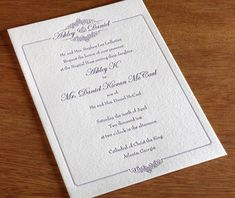 formal letterpress wedding invitation by invitations by ajalon classic @Laura Jayson Jayson Harris  @Sarah Chintomby Harris @Beverly Lucas