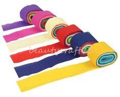 Multicolour Crepe Paper Streamers DIY wedding supplies paper scrapbooking kids