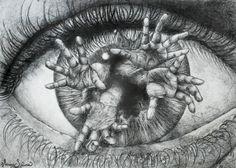 Art Diary by :: Fantastic Illustration + Psychedelic Art, Dibujos Dark, Realistic Eye Drawing, Drawing Eyes, Creepy Eyes, Art Diary, Art Gallery, Photoshop, Arte Horror