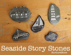 seaside craft using pebbles