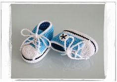 Handmade Crochet Baby Shoes Crocheted Baby Boys by MiniBeeBee, $7.89