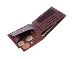 All your essential cards, coins, cash and identification can be stored in one handy sized wallet. Man Purse, Coin Purse Wallet, Men's Collection, Coins, Leather, Men's Bags, Rooms